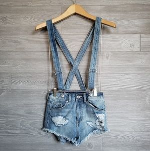Divided Overall Shorts